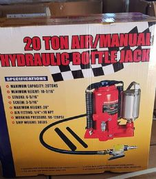 "Mattis 20 Tonne Air Bottle Jack Max Height 20"" Hydraulic Bottle Jack"